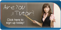 Are you a tutor? Sign up today!