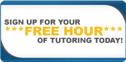 Sign up today for  your free hour of tutoring!